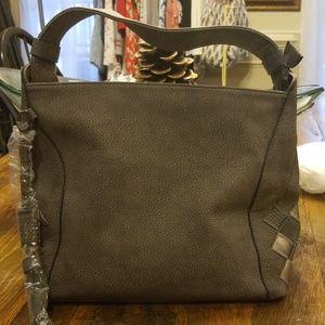 Handbags - Gray Faux Leather Hobo